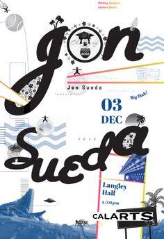 Calarts visiting artist poster// designed by Jae Ee, Sohee Kim and Iris Chung