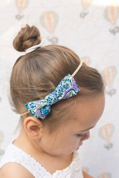 """Limited Edition Emma Bow in """"Blue Floral Paisley"""""""