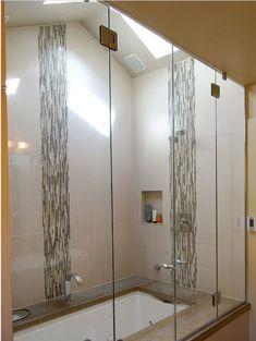 rsultats de recherche dimages pour horizontal accent tile in shower subway tile bathroomssubway