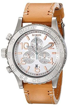 Women's Wrist Watches - Nixon Womens A4241603 4220 Chronograph Leather Watch * To view further for this item, visit the image link. (This is an Amazon affiliate link)