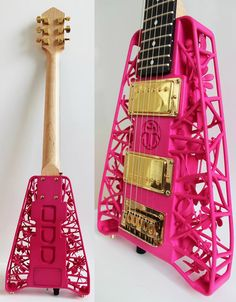 Massey University professor Olaf Diegel creates awe-inspiring 3D printed guitar bodies with intricate scenes embedded within their open air design. Diegel uses a EOS Formiga P100 selective laser sintering machine to achieve the incredible level of detail in his designs, the latest of which are Scarab and Spider
