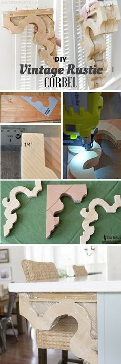 Check out the tutorial: #DIY Vintage Rustic Corbel @istandarddesign