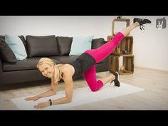 Fitness: Top5 Übungen für sexy Beine und einen knackigen Po - YouTube