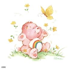These old drawing of Care Bears melt my heart whenever I see them