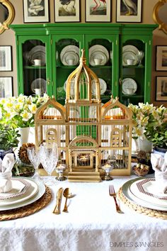 Easter, Spring Table Setting Ideas, Easter Tablescape