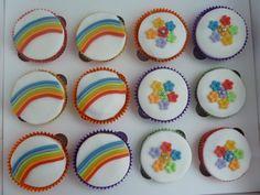 Cupcakes K3 - regenboog