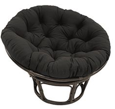 online shopping for Blazing Needles Solid Twill Papasan Chair Cushion, 48 x 6 x 48 , Black from top store. See new offer for Blazing Needles Solid Twill Papasan Chair Cushion, 48 x 6 x 48 , Black Double Papasan Chair, Papasan Cushion, Swivel Rocker Chair, Wing Chair, Caravan, Patio Seat Cushions, Outdoor Cushions, Outdoor Lounge, Indoor Outdoor