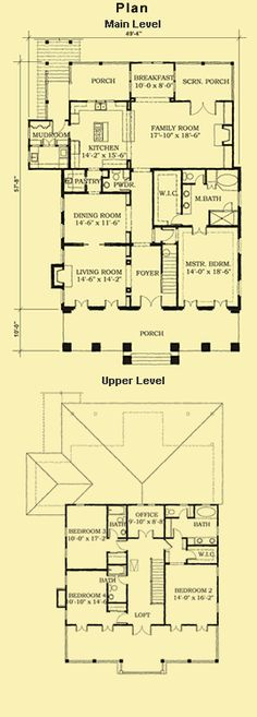 Southern House Plans With Porches & Traditional 4 Bedroom Home Plans