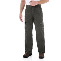 43e8101578 Wrangler - Men's Rip-Stop Cargo Pants Cargo Work Pants, Parachute Pants,  Khaki. Walmart.com