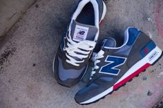 "NEW BALANCE 1300 ""MADE IN USA"" – CHARCOAL, BLUE & RED"