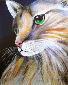 Green Eyes. Acrylic on canvas by Sasha Taylor