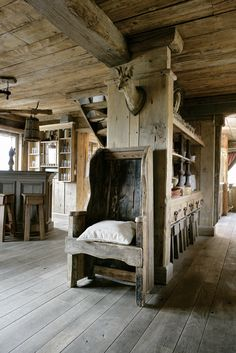 A House Of Wood Chalet Style, Rustic Interiors, Rustic Chair, Rustic  Furniture,