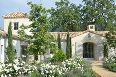 Patina Farm - by Steve and Brooke Giannetti. Exquisite house exterior and gardens Spanish Style Homes, Spanish House, Spanish Revival, Spanish Colonial, Spanish Bungalow, Patina Farm, Italian Garden, Italian Villa, Mediterranean Homes