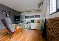 wood flooring in living room