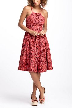 Fit-And-Flare Garden Dress #anthropologie