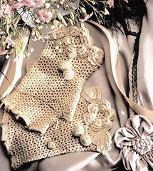 Crochet Fingerless Silk Mittens