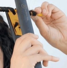 If you don't have a curling iron, you can use a wooden pencil and a straightener to create tight, wavy curls.   17 Beauty Hacks On Instagram That Are Borderline Genius