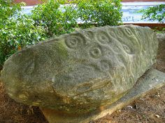 forsyth county petroglyph rock currently at the university of georgia athens clarke co ga 1 by Alan Cressler, via Flickr