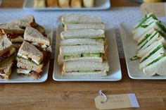 High Tea Sandwiches ideeën - Uit Pauline's Keuken High Tea Sandwiches, Tee Sandwiches, Party Decoration, Food Tasting, Appetizers For Party, Afternoon Tea, Food Inspiration, Love Food, Tapas
