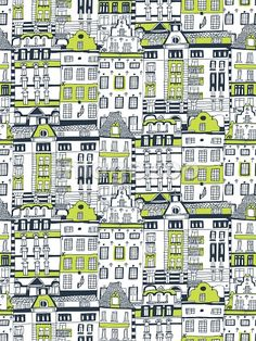 A pattern of apartment buildings by Jessica Hogarth