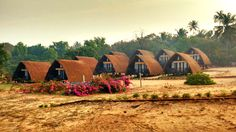 The splendid look of morning sun rays falling on the cottages. #Awesome