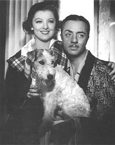 Vintage photo of Asta the famous wirehair fox terrier who helped the sleuth in Thin Man Series in the 1930's.