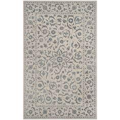 Safavieh Glamour Floral Handmade Silver/ Rug