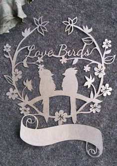 Custom hand cut paper design cutwork paper art 'Love birds' first wedding anniversary gift by PapaverDesigns, £60.00