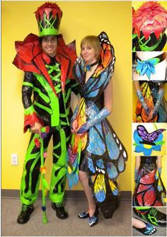 Duct Tape prom clothing. Some of these kids are really creative.