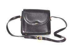 Vintage Black Leather BALLY Bag /// BALLY of Switzerland by OtisAndTheGirl, $85.00 Bally Bag, Vintage Black, Switzerland, Ready To Wear, Vintage Jewelry, My Etsy Shop, Black Leather, How To Wear, Bags