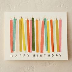 diy birthday cards for mom Wish a happy birthday in style with this card adorned in colorful candles. Creative Birthday Cards, Simple Birthday Cards, Homemade Birthday Cards, Birthday Cards For Friends, Funny Birthday Cards, Birthday Card Design, Diy Birthday Cards For Mom, Diy Birthday Gifts For Mom, Diy Happy Birthday Card