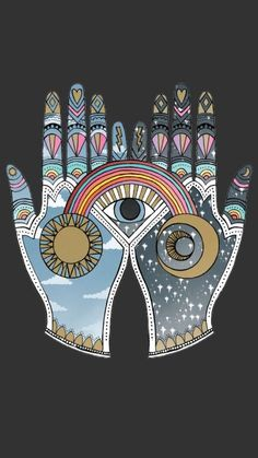 Wort Collage, Collage Art, Collage Drawing, Collage Ideas, Art And Illustration, Collage Illustrations, Hamsa, Hippie Art, Psychedelic Art