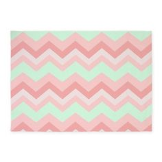 Mint Pink Chevron 5u0027x7u0027Area Rug