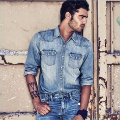 Stefano Sala doubles down on denim for GUESS Jeans' spring-summer 2017 campaign.
