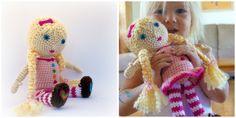 EASY - free crochet doll pattern. SO cute!
