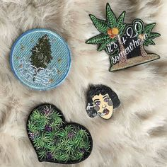 """#Repost @catboxpins  Y'all. I'm getting my wisdom teeth taken out right now. Buy some stuff and make me feel better lol click the link in bio or go to thecatbox.bigcartel.com to get """"The Devils Lettuce"""" or any of my other pins currently in stock! @patchesoagahan  Top left patch: @r_riverbed top right and bottom left patches: @patchesoagahan #patches #patch #patchgamestrong #pingamestrong #pin #420 #cannabis #cannabiscommunity #stoner #patchesoagahan - #regrann #pin #pins #pingame #enamelpin…"""