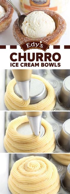 Bring out the cinnamon and sugar and let's get baking in the kitchen! Your kids are sure to love helping you create this fun and creative recipe for Churro Ice Cream Bowls—especially since it involves a delicious scoop of Edy's Slow Churned Caramel Delight light ice cream. Could there be a more perfect treat for summer?!