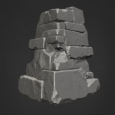Some hell rock modules I worked on for DOOM. I did the Highpoly, Lowpoly and Concept. Zbrush Environment, Environment Concept Art, Environment Design, 3d Texture, Stone Texture, Zbrush Tutorial, 3d Tutorial, Learn To Sketch, Zbrush Character