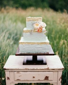 Erin And JJ's Colorado Ranch Wedding - The Cake
