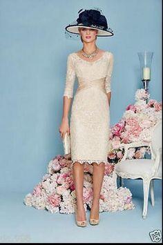 Laço Mãe da Noiva Vestido de noite formal Noivo outfit/suit & Jaqueta na altura do joelho