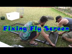 Fixing Fly Screen (2 of 2)  #diy #realdeal
