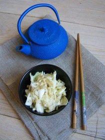 Salade de chou façon japonaise - www.aupaysdesdelices.net