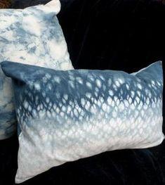 Shibori Indigo Pillow by Laura Bellel by audra