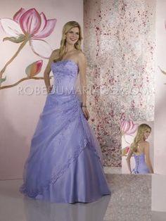 Bustier applique fleur broderies double couches  satin organza robe de mariée
