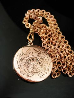 1908 Antique locket Moon GORGEOUS rose gold filled Victorian necklace Fob charm watch chain dated February estate jewelry heirloom keepsake Antique Locket, Vintage Lockets, Antique Jewelry, Vintage Jewelry, Rhinestone Jewelry, Vintage Rhinestone, Gold Jewelry, Jewellery, Cross Jewelry