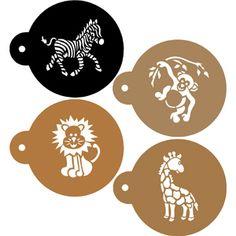 Jungle Animals Cookie Stencils