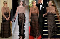 MYROYALS &HOLLYWOOD FASHİON: Queen Maxima in Valentino-Queen Maxima's dress from Valentino. We have seen the same dress on Crown Princess Marie Chantal and Crown Princess Mette Marit too.  Everybody wears it and nobody looks good in it. Amazing.