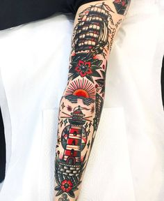 katrina old school tattoo katrina old school tattoo Dope Tattoos, Leg Tattoos, Body Art Tattoos, Tattoos For Guys, Sanduhr Tattoo Old School, Old School Tattoo Designs, Traditional Tattoo Old School, Traditional Tattoo Flash, Traditional Tattoo Leg Sleeve