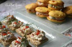 Αλμυρά μπισκότα με γέμιση τυριών και μπέικον ⋆ Cook Eat Up! Antipasto, Skewers, Finger Foods, Appetizers, Meat, Chicken, Finger Food, Appetizer, Entrees
