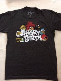 cec24a338238c Angry Birds T-Shirt Unisex Size M Dark Gray  AngryBirds  GraphicTee Angry  Birds